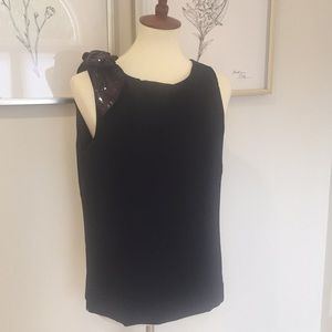 J. Crew black top with bow style H3755